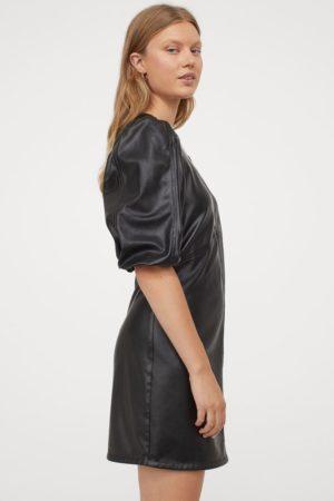 Robe courte imitation cuir souple